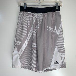 Adidas Men's Gray/White Training Athletic Shorts
